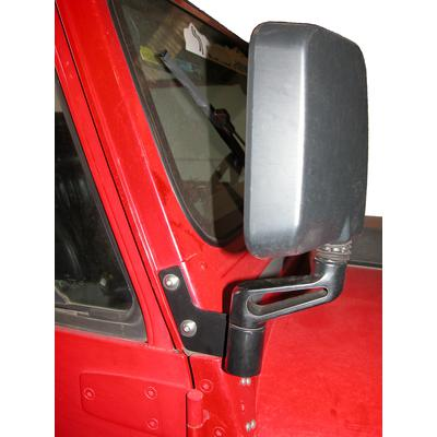 Skid Row Off Road Mirror Relocation Brackets (Black) - JP-1018