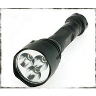 Smittybilt TR-8 Rechargable LED Flashlight-Black - L-1408