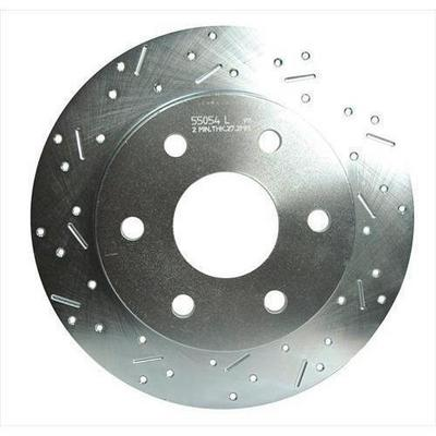 Stainless Steel Brakes Big Bite Cross Drilled Rotors - 23045AA3L