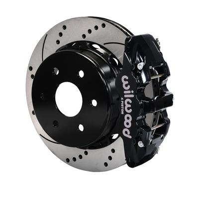 Image of Wilwood AERO4 Big Brake Rear Brake Kit with Drilled and Slotted Rotors - 140-9407-D