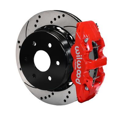 Image of Wilwood AERO4 Big Brake Rear Brake Kit with Drilled and Slotted Rotors - 140-9407-DR