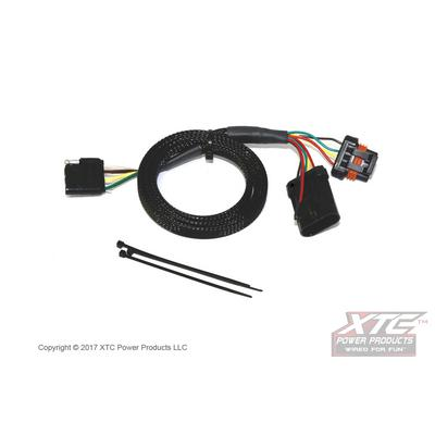 XTC Power Products Polaris General Plug & Play OEM Harness to 4 Pin Flat Trailer Connector - GEN-TRAOUT