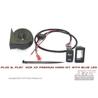 XTC Power Products Polaris RZR XP Plug & Play Horn Kit with Blue LED Rocker Switch - HORN-RZRXP-PR-LB