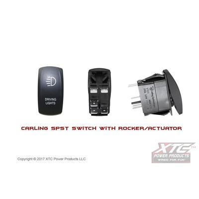 XTC Power Products Carling Switch, Driving Lights with Blue/Blue LED's - SW11-BB105010