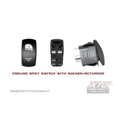 XTC Power Products Carling Switch, Helmet Air with Red/Red LED's - SW11-RR113015
